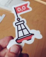 MZ Null Island Sticker